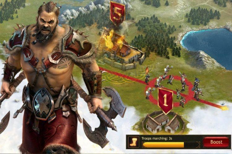 vikings war of clans jeu de strat gie en ligne gamezine. Black Bedroom Furniture Sets. Home Design Ideas